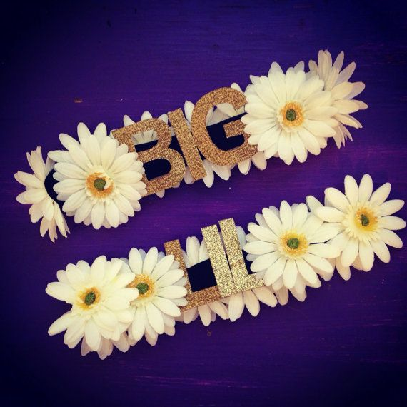 The Custom Order Letters Crown Sorority Game Day Big Little