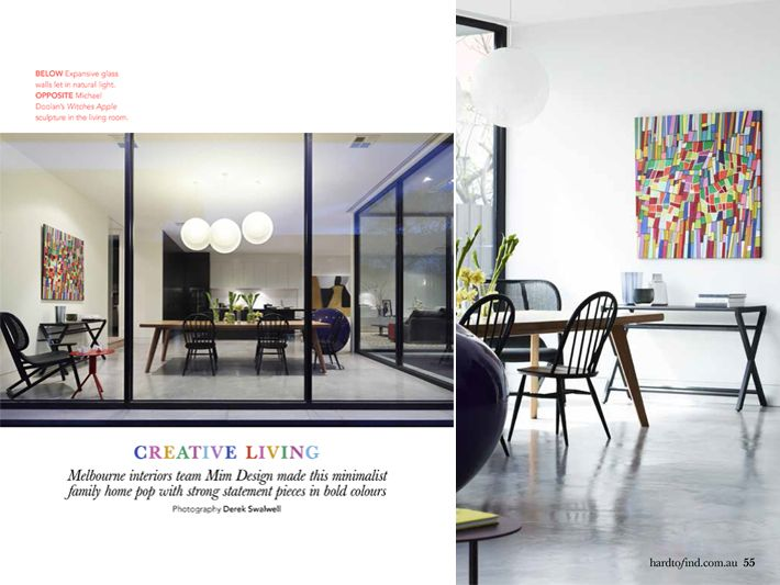 Mim Design News 7th February 2013:  HARD TO FIND MAGAZINE. SKD Residence has been featured in the February issue of Hard To Find magazine.