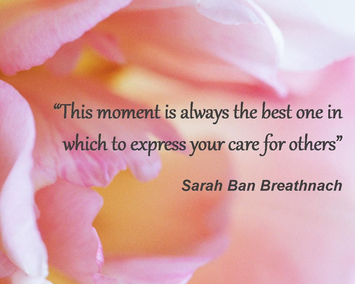 Hospice Nurse Quotes This Moment Is Always The Best One In Which To Express Your Care