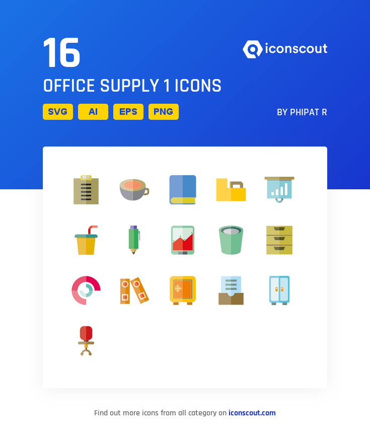 Download Download Office Supply 1 Icon pack - Available in SVG, PNG ...