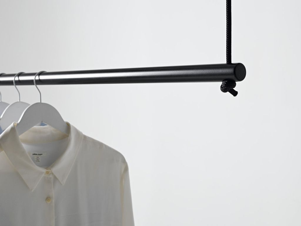 image result for ceiling suspended clothes rail