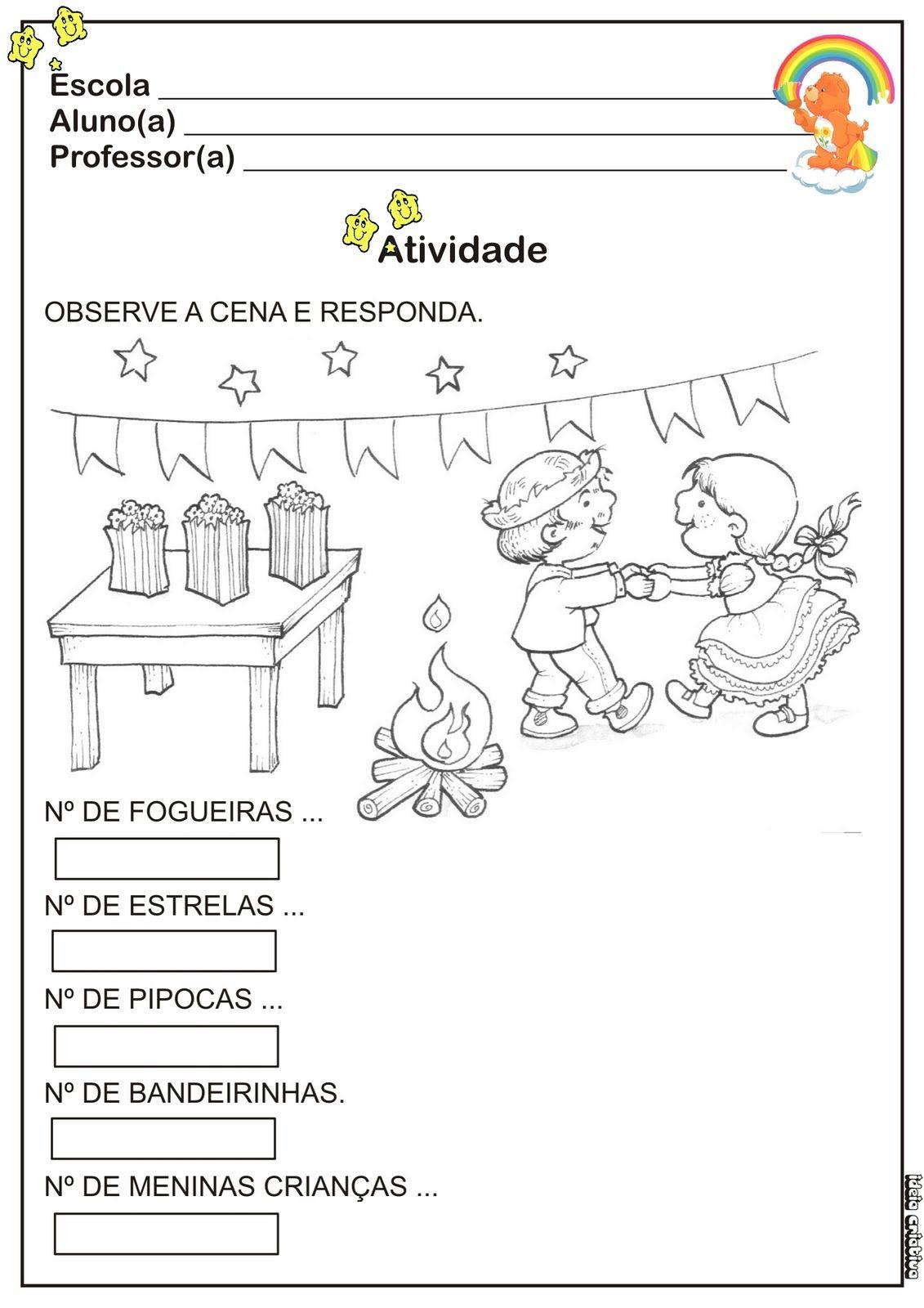 Atividade Festas Juninas Educacao Infantil Matine Caipira Com