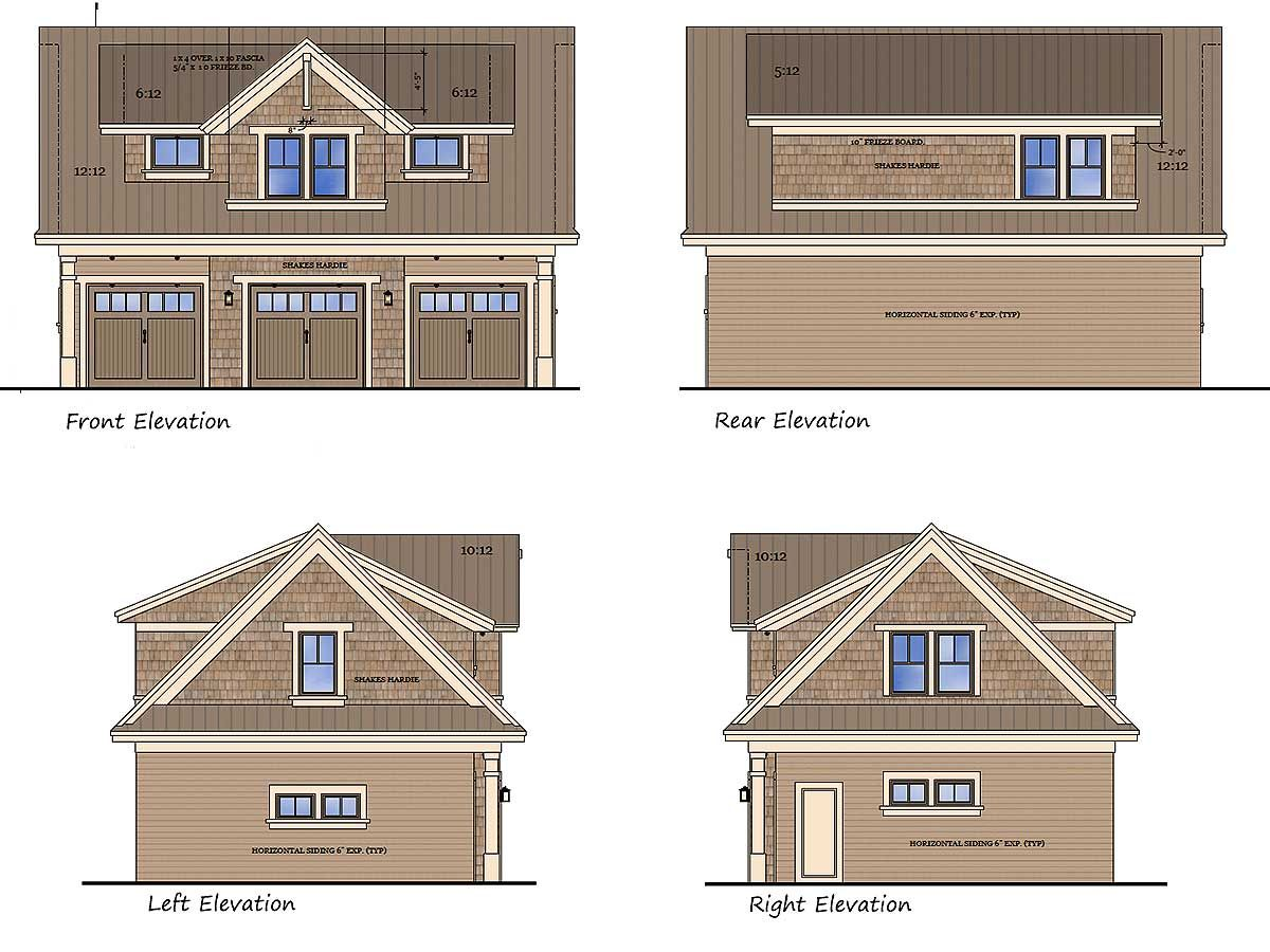 Plan 14631rk 3 Car Garage Apartment With Class With Images Garage Apartments Garage Apartment Plans Car Garage