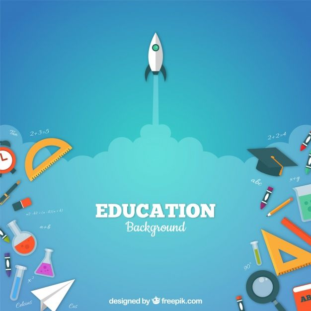 Download Education Elements Background In Flat Style For Free