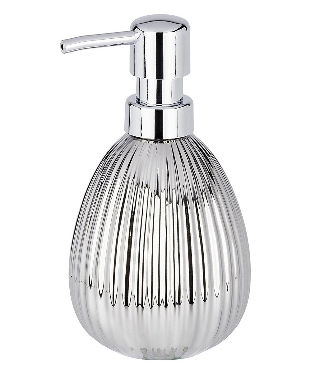 Chrome Ceramic Riff Soap Dispenser Soap Dispenser