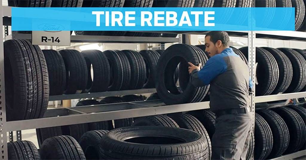 Buy four select tires get a 140 rebate by mail when you