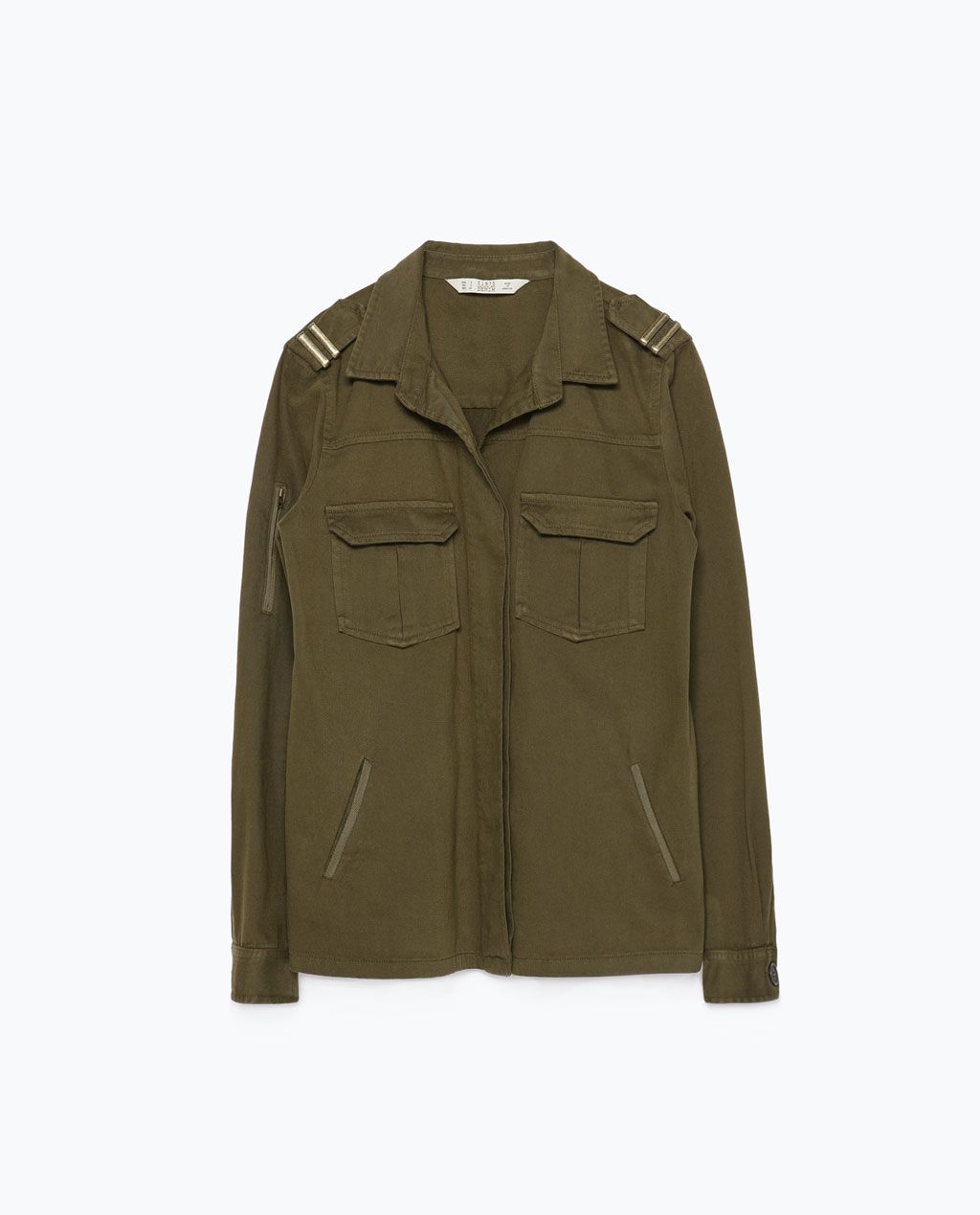 veste jean militaire femme zara