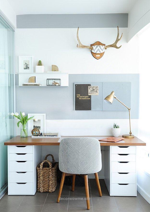 Ikea Office Malm Desks Expedit Shelves Husband Likes It