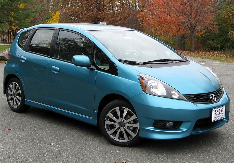 Turquoise Honda Fit (my new car! not this specific one