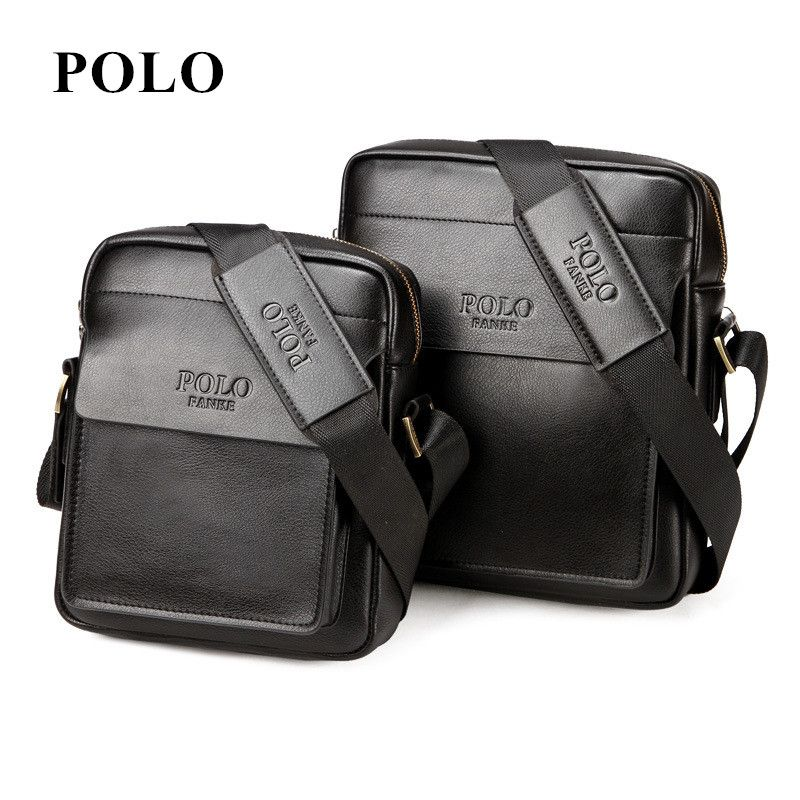 7deb7f159777 New POLO Famous Brand Leather Men Bag Casual Business PU Leather Mens  Messenger Bag Vintage Men s Crossbody Bag bolsas male