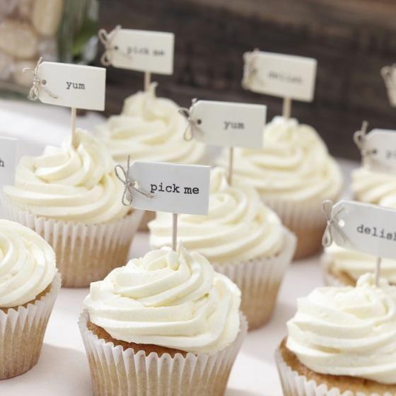 Vintage Affair Cupcake Sticks – 12 Pack