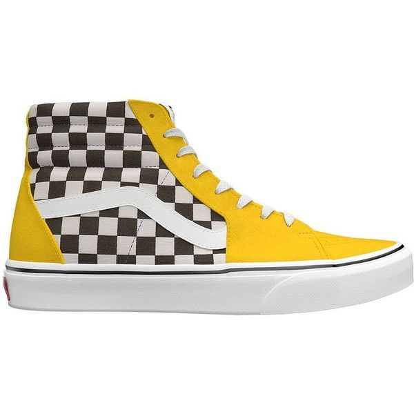 Vans Customs SK8-Hi ($95) ❤ liked on Polyvore featuring men's fashion and yellow
