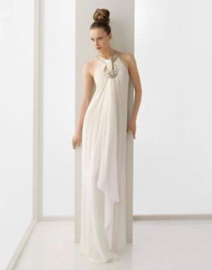 Vestidos de novia embarazadas rosa clara