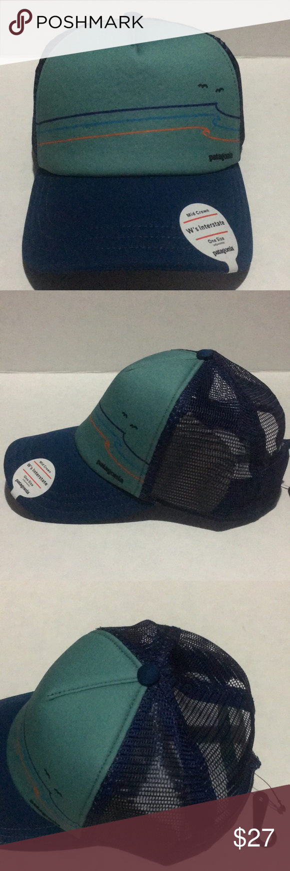 211531009eddf Patagonia Tide Ride Sur Blue Trucker Hat New with Tags, Patagonia ...