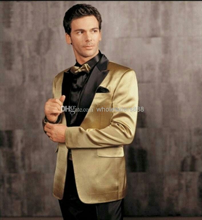 Men S Black Gold Formal Wear Choice Gold Prom Suit Wedding