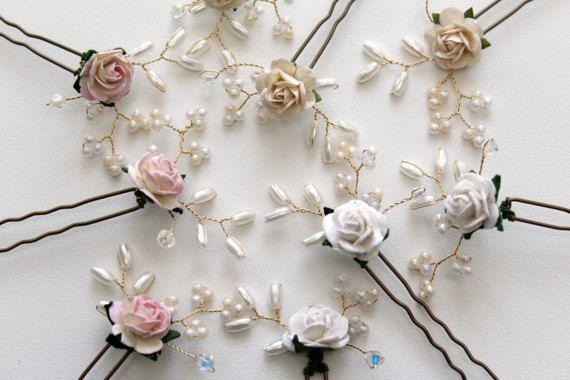 GISELLE pelo Pin Set flores pelo Pins accesorio del pelo de