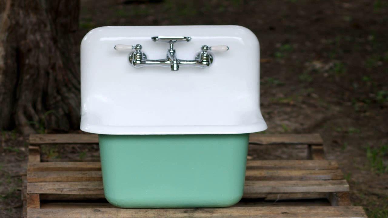utility sink cast iron sink