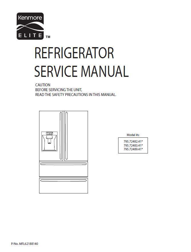 kenmore elite 795 72052 72053 72059 service manual and repair rh pinterest com service manual for kenmore elite refrigerator Kenmore Refrigerator Model Numbers