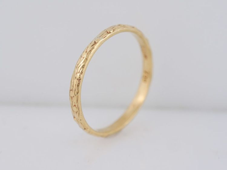 Antique Wedding Band Art Deco In 18k Yellow Gold Minneapolis Mn