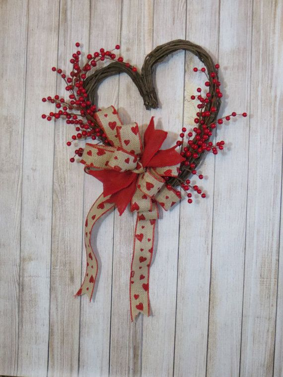 Valentine Wreath Grapevine Valentine Grapevine Heart By Dazzlement Valentine Wreath Valentine Crafts Wreaths