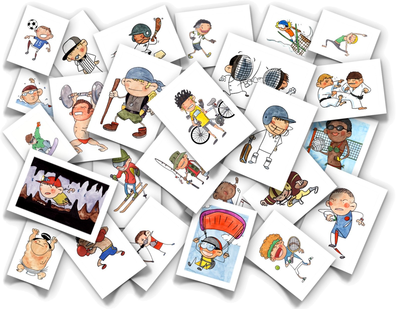 free sports flash cards