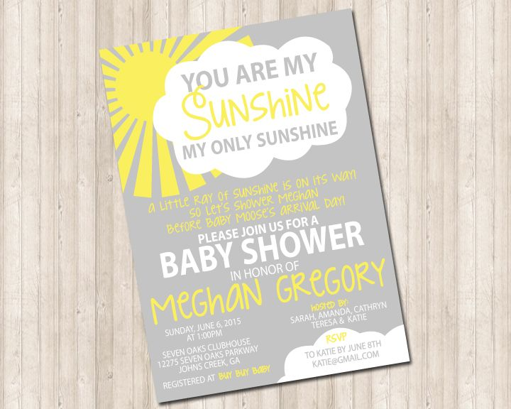 You Are My Sunshine Invitation Sunshine Birthday Party Ideas