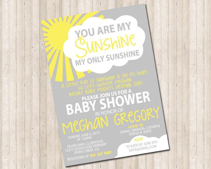 You Are My Sunshine Invitation Sunshine Birthday Party Ideas