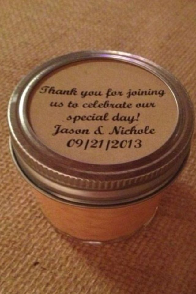 Hand Poured Wedding Candle Favors Rustic Wedding Pinterest