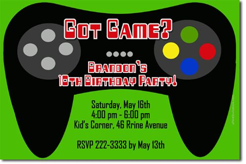 Awesome Video Game Birthday Invitations Ideas Video Game Party Invitation Party Invite Template Printable Birthday Invitations