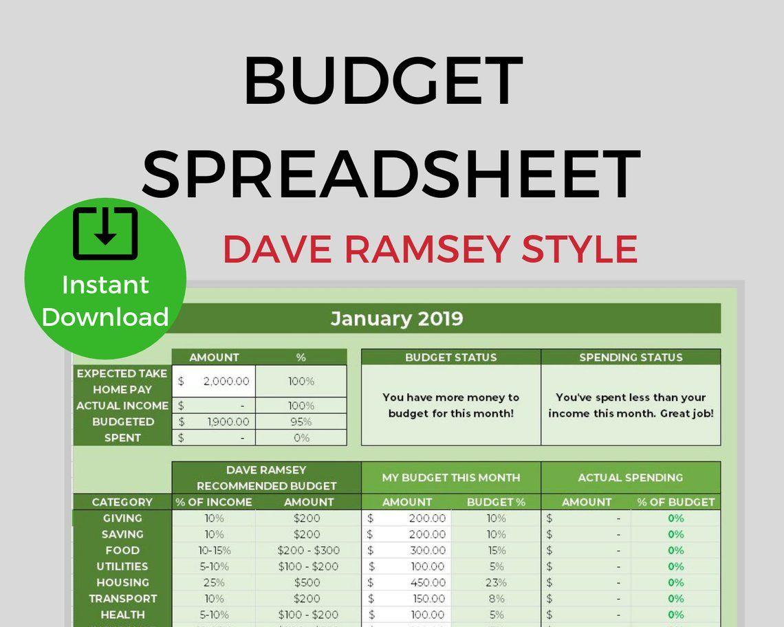 Dave Ramsey Budget Planner Budgeting Spreadsheet Calculator Etsy Budget Planner Dave Ramsey Budgeting Budgeting Dave ramsey budget excel template