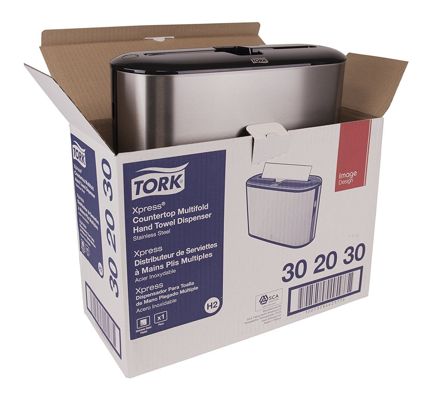 Tork 1 Xpress Countertop Multifold Hand Towel Dispenser 302030 Stainless Steel Read More Reviews Of The Product
