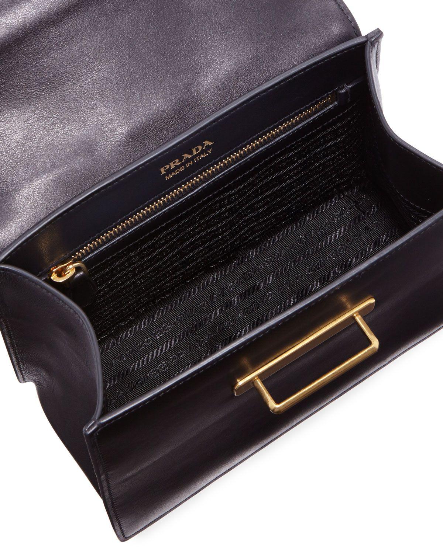 28dbd8ad724b Prada Cahier Medium Calf Leather Crossbody Bag | Products | Leather ...