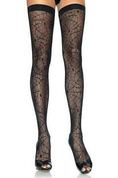 f5e2a38b2 Spider Web Lace Thigh Highs