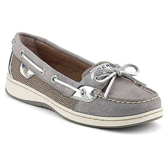 Sperry angelfish sparkle suede shoes