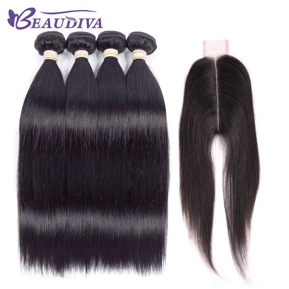 Beaudiva precolored natural color straight bundles pack with