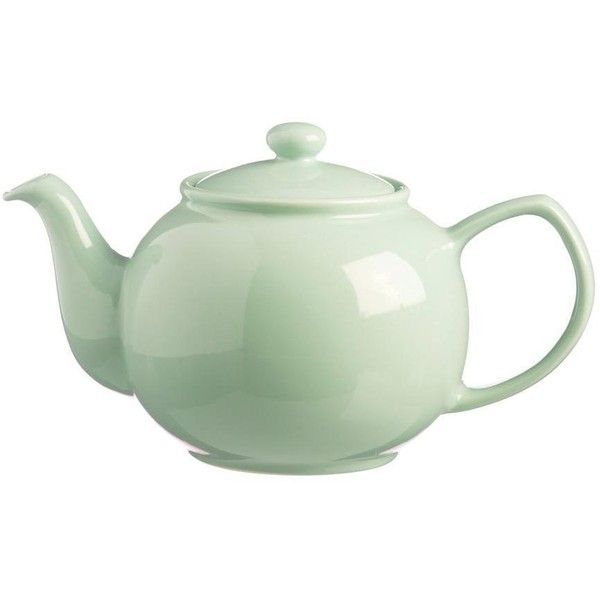 Price Kensington Mint 6 Cup Teapot 12 Liked On Polyvore Featuring Home Kitchen Dining Teapots Tea Pot Tea Pots Stoneware Teapot The Office Teapot