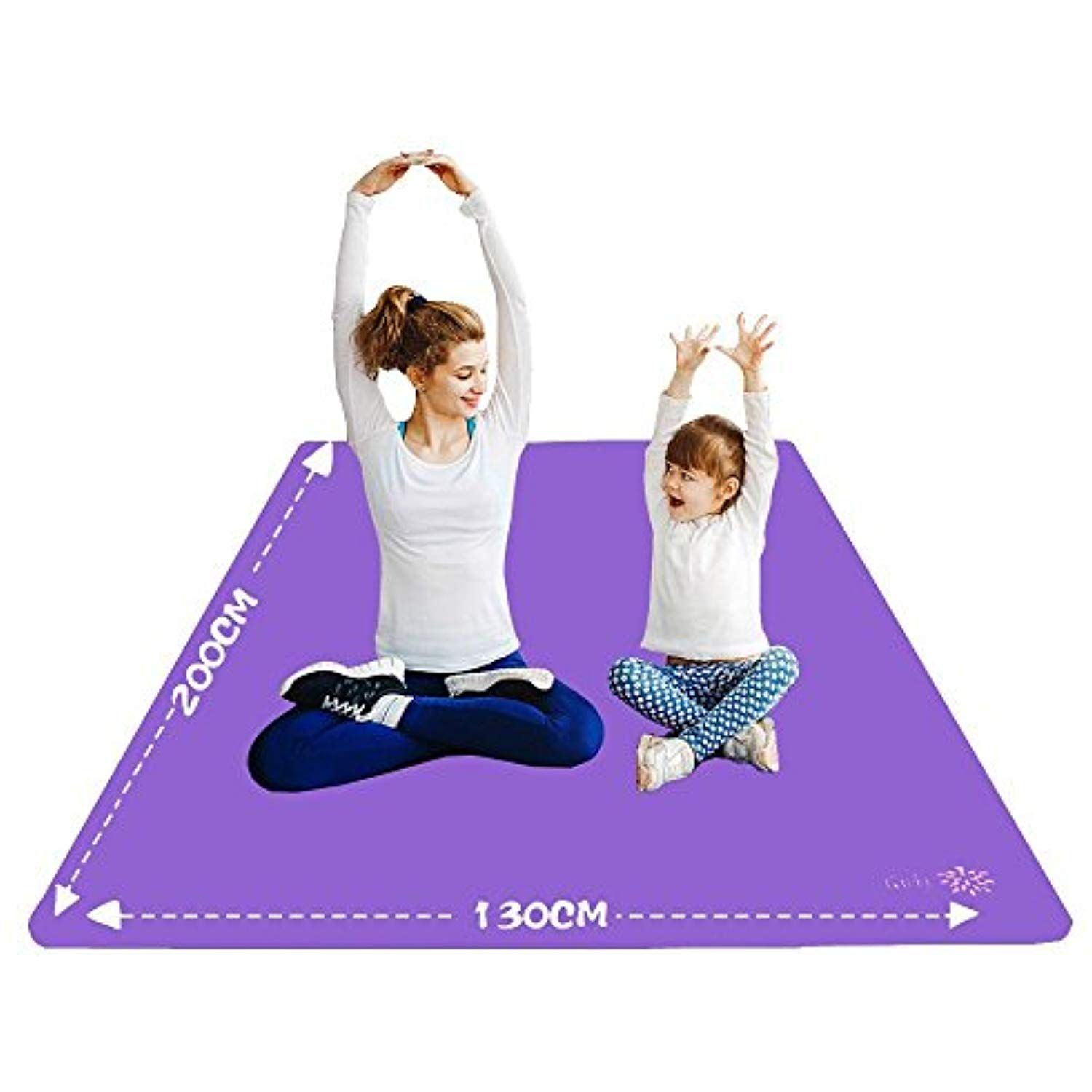 Yuren Oversized Yoga Mat 130 Cm Wide Nbr Made Thickness 10 Mm 200 Cm 130 Cm Parent Child Yoga Mat Beginner Training Ma Kids Yoga Mat Mat Exercises Yoga For Two