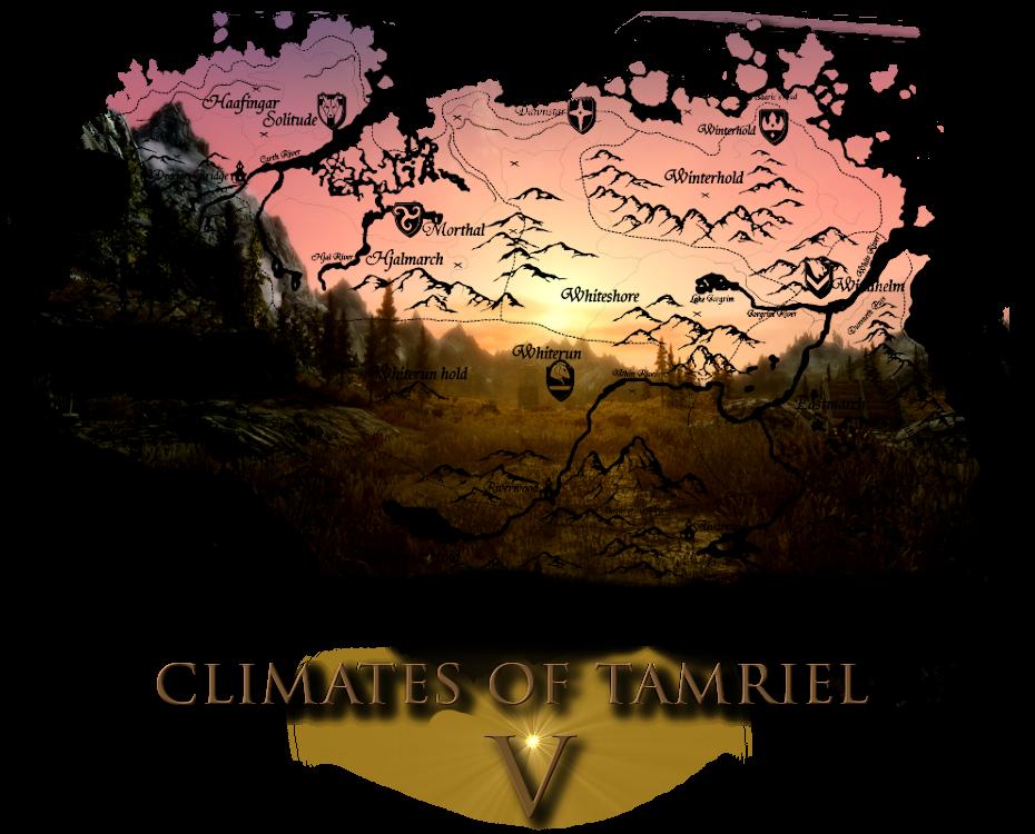 Climates Of Tamriel Weather Lighting Audio At Skyrim Nexus Mods And Community Skyrim Nexus Mods Skyrim Cloud Texture