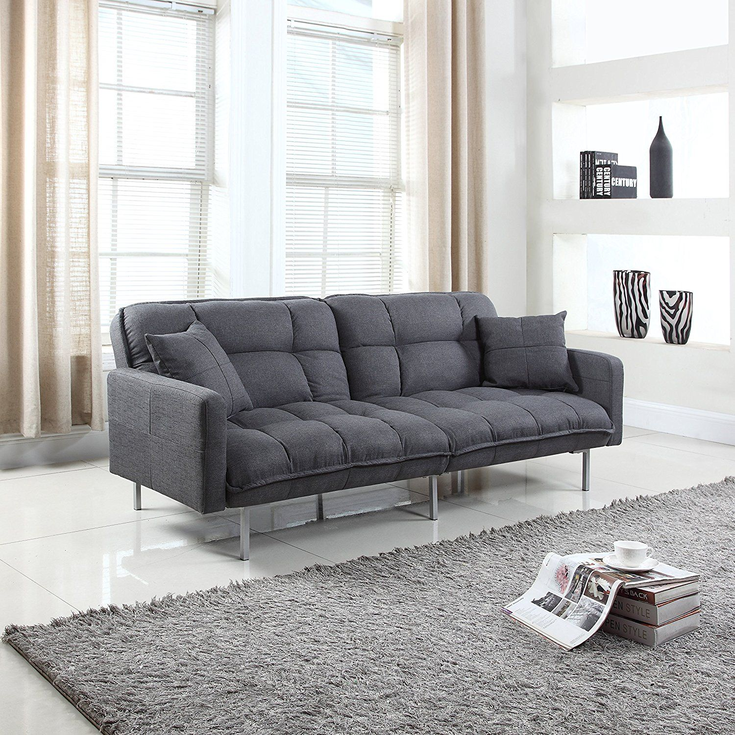 10 Best Sleeper Sofa Most Comfortable Sofa Bed Reviews In 2019 Futon Sofa Futon Living Room Futon Cushions