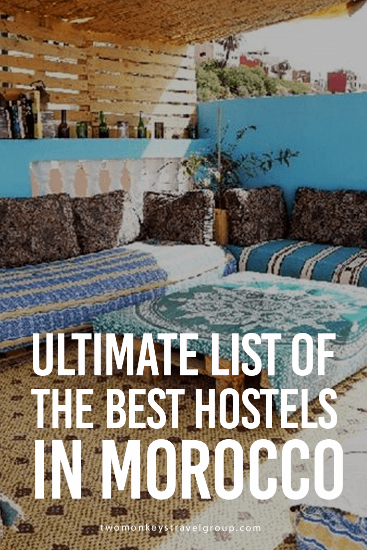 Ultimate List of The Best Hostels in Morocco Providing you the ultimate list of the BEST HOSTELS IN MOROCCO – includes rates, locations and great reviews that will definitely help you with your stay anywhere in Morocco!