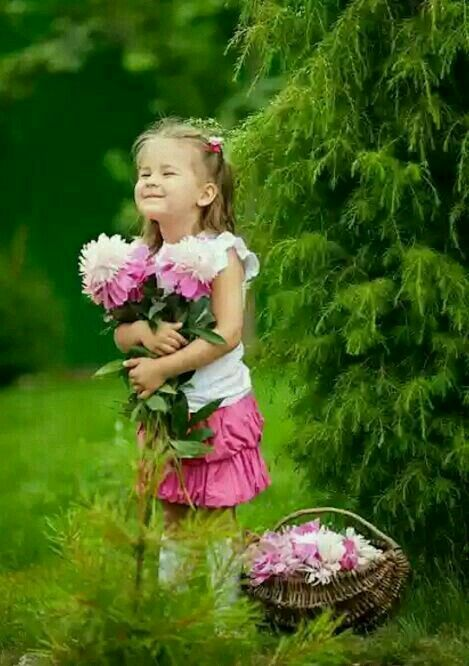 Good Morning Image With Cute Little Girl Imaganationfaceorg