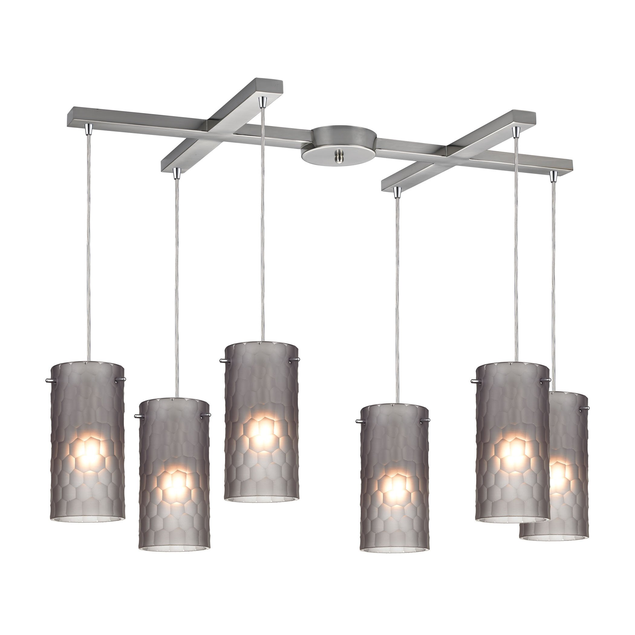 Elk lighting synthesis light pendant in satin nickel and frosted