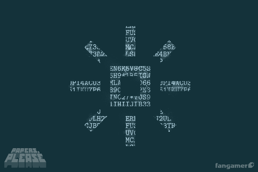 My Name Is Corman Drex You Have Something Of Mine It S A Papers Please Shirt With The Ezic Logo Cipher On It Discharge Printed Paper Indie Game Art Prints