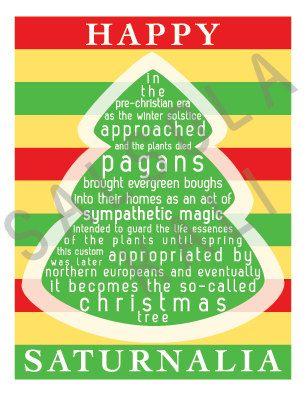 Happy Saturnalia Winter Solstice Pagan by Salsola Kali on Etsy. Pagan  Christmas, Origin Of - Happy Saturnalia Winter Solstice Pagan By Salsola Kali On Etsy