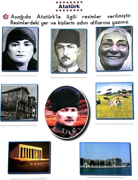 Ataturk Un Hayati Egitim Faaliyetler Boyama Sayfalari