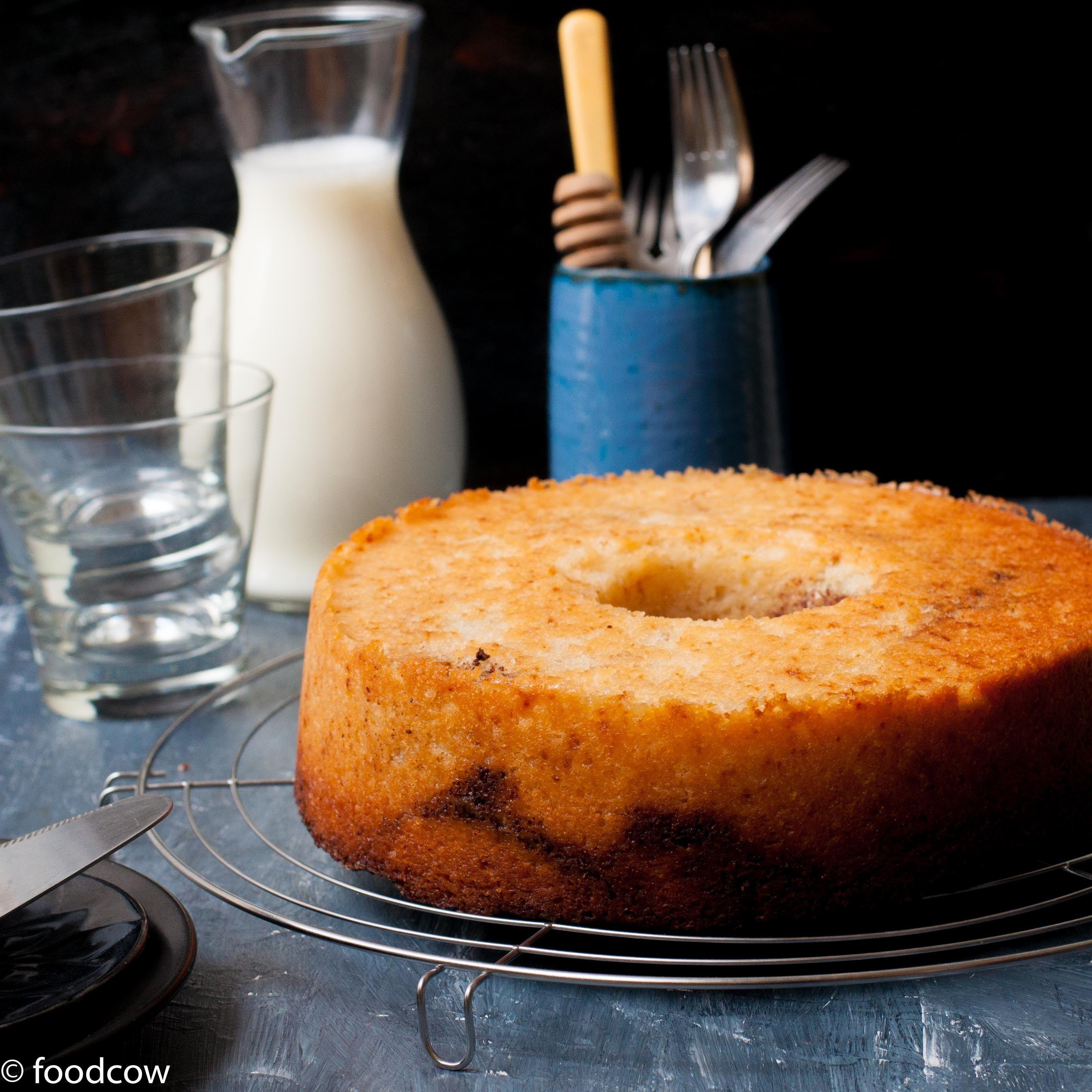 Eggless Cinnamon Cake Vegetarian Coffee Cake with Swirls