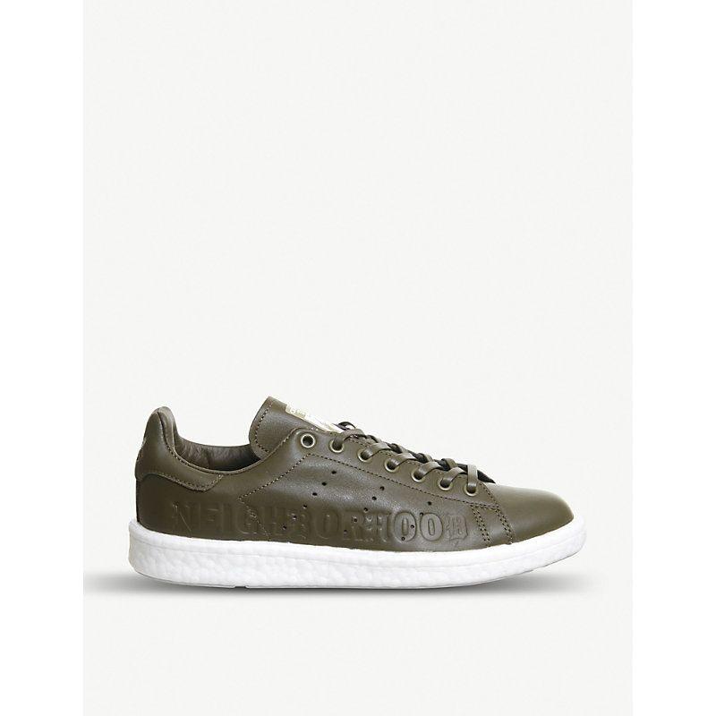 82c9f83255b69d ADIDAS ORIGINALS X NEIGHBOURHOOD STAN SMITH LEATHER TRAINERS.   adidasoriginals  shoes