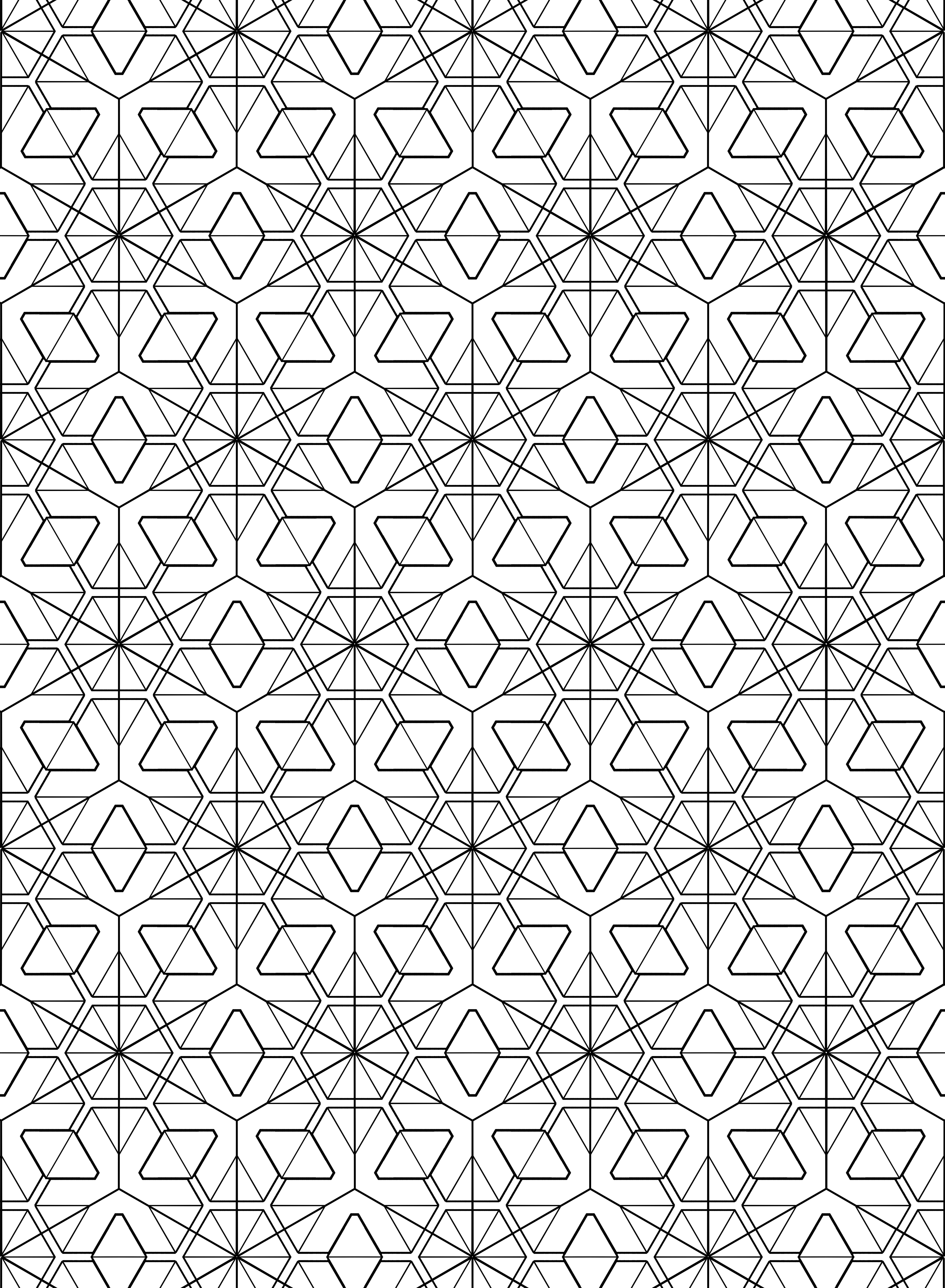Tesselation Free Coloring Pages