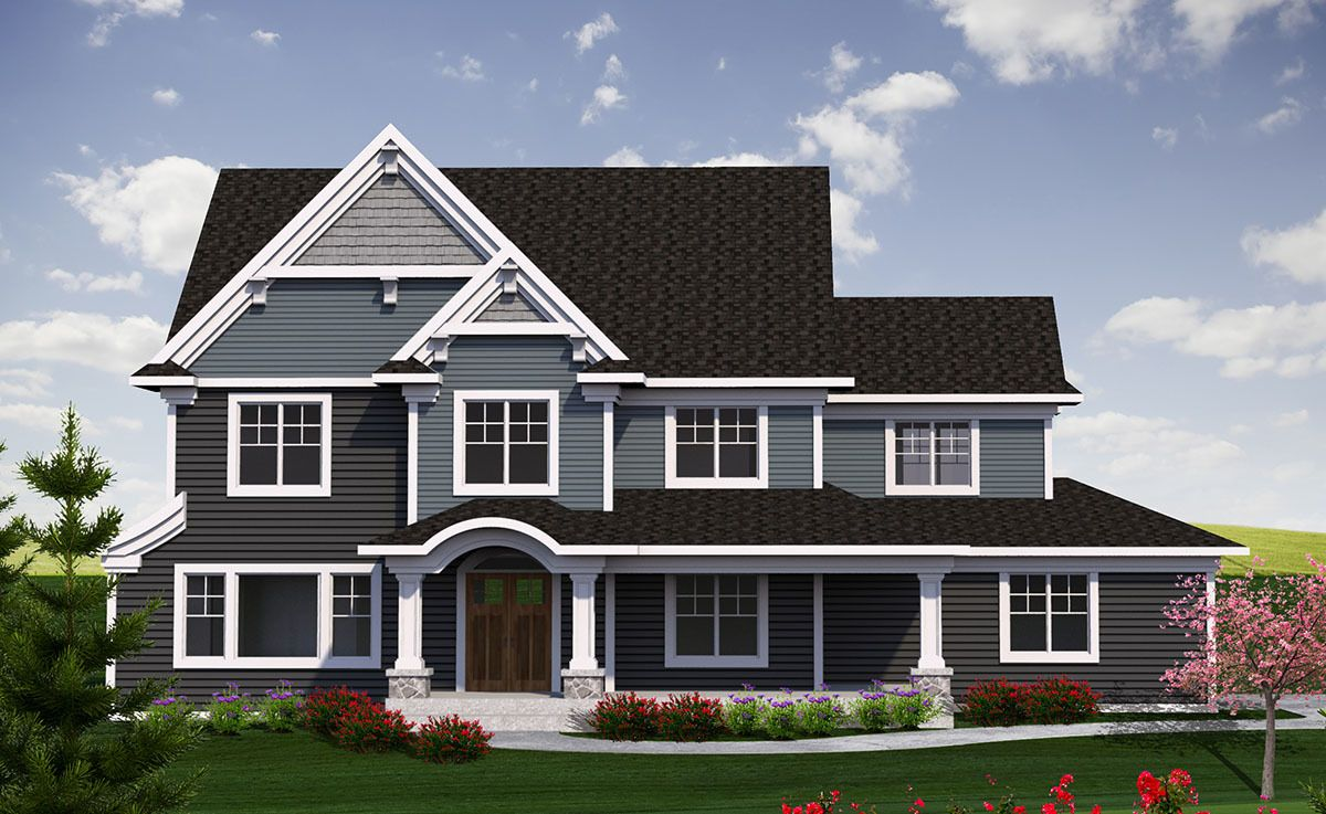 Plan 89970AH 2 Story Traditional Farmhouse Plan