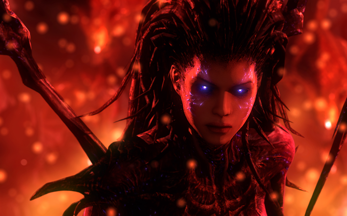 Download Wallpapers Queen Of Blades 4k Sarah Kerrigan